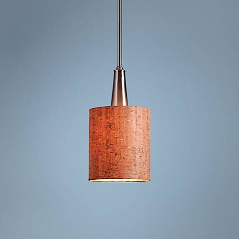 Bulletin 8 Wide Natural Cork Mini Pendant