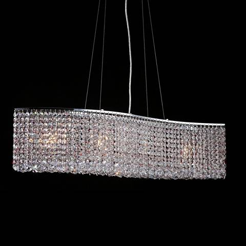 "James R. Moder Wave 33"" Wide Imperial Crystal Pendant"