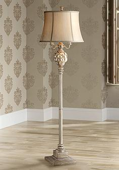 Floor lamps traditional to contemporary lamps lamps plus olde 4 light floor lamp with led night light aloadofball Gallery