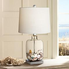 Fillable table lamps lamps plus square glass 21 34 aloadofball Image collections