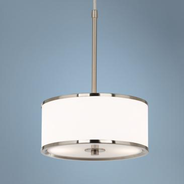 "Korva Brushed Steel 10 1/4""W Pendant Light"