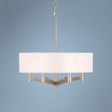 "Ava 6-Light 14""W Nickel Chandelier"