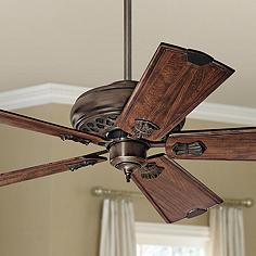 Rustic lodge ceiling fan without light kit ceiling fans lamps plus 60 casablanca fellini cocoa ceiling fan mozeypictures Image collections