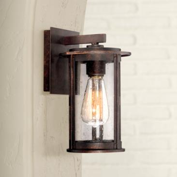 "Ridgeland 10 1/2"" High Bronze Outdoor Wall Light"