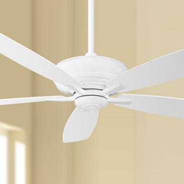 "60"" Minka Aire Kola XL White Ceiling Fan"
