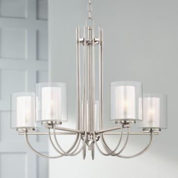 "Possini Euro Melody 26 3/4"" Wide Brushed Nickel Chandelier"