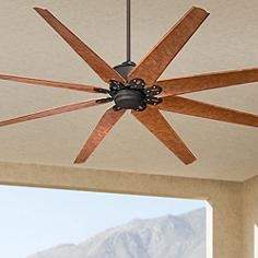 Large outdoor ceiling fans lamps plus 72 72 predator english bronze outdoor ceiling fan mozeypictures Choice Image