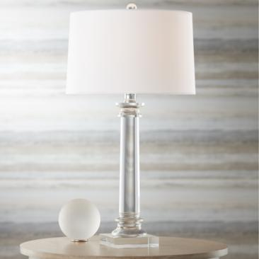 Vienna Full Spectrum Modern Crystal Column Table Lamp