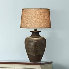 Arts and crafts table lamps lamps plus dark beige sable southwest table lamp aloadofball Choice Image