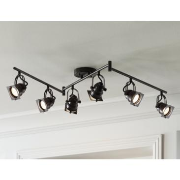 Hamilton 6-Light Bronze Swing Arm LED Track Light Kit
