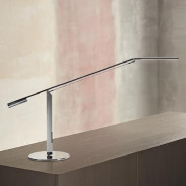 Gen 3 Equo Warm Light LED Chrome Desk Lamp with Touch Dimmer
