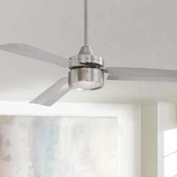 "52"" Casa Arcus™ Brushed Nickel LED Ceiling Fan"