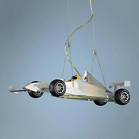 "Race Car 26"" Wide Pendant Chandelier"