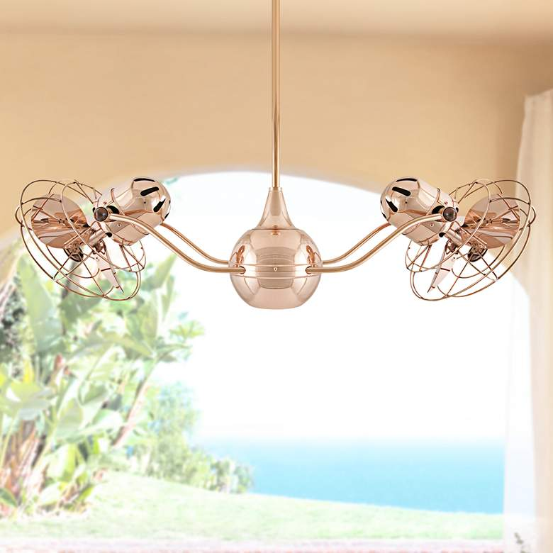 "42"" Matthews Vent Bettina Dual-Head Copper Ceiling Fan"