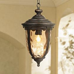 "Bellagio Collection 18"" High Bronze Outdoor Hanging Light"