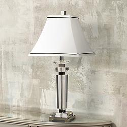 Vienna Full Spectrum Square Crystal Column Table Lamp