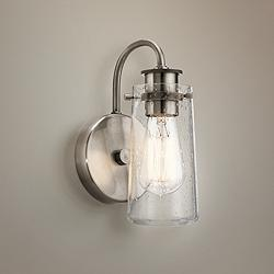 "Kichler Braelyn 9 1/2"" High Classic Pewter Wall Sconce"