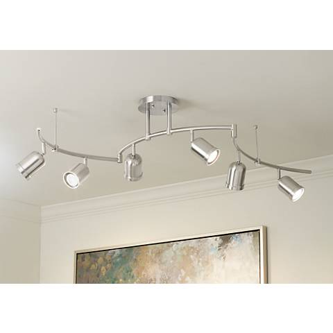 Pro Track® Rhodes 6-Light Brushed Nickel Track Fixture