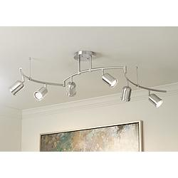 Pro Track Rhodes 6-Light Brushed Nickel Track Fixture