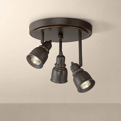 Pro Track Cress 3-Light Bronze LED Track Fixture