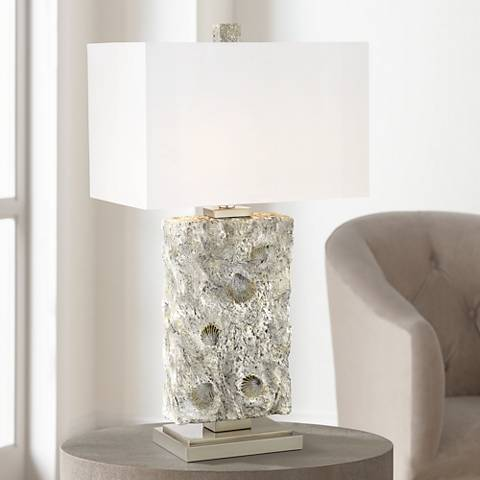 Kathy Ireland Waterside Seashell Sand Table Lamp