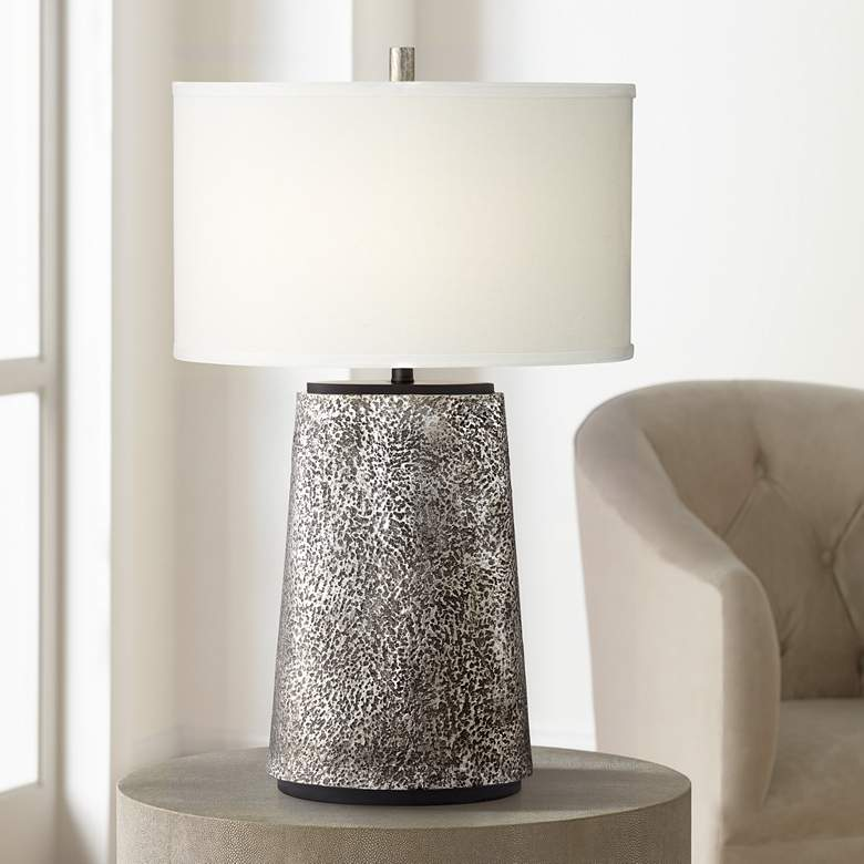 Kathy Ireland Palo Alto Aged Pewter Table Lamp