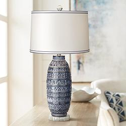 Cullen Blue Ceramic Table Lamp