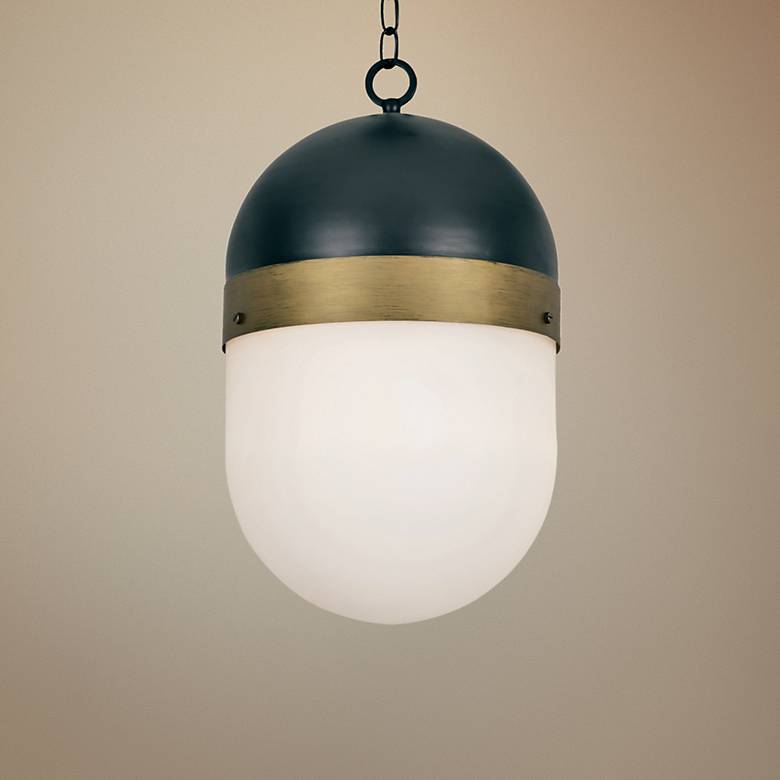"Capsule 12 1/4"" Wide Matte Black 3-Light Outdoor Pendant"
