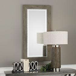 "Uttermost Sheyenne Rustic Wood 24"" x 48"" Wall Mirror"