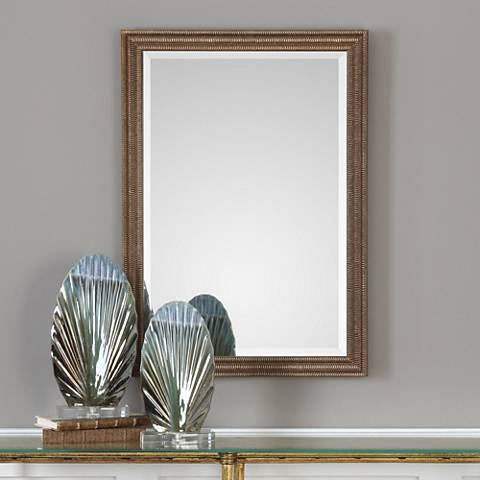"Rydal Distressed Bronze 23 1/2"" x 33 1/2"" Wall Mirror"