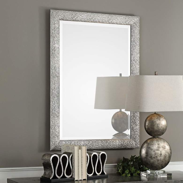 "Mossley Metallic Silver 30"" x 42"" Framed Wall Mirror"
