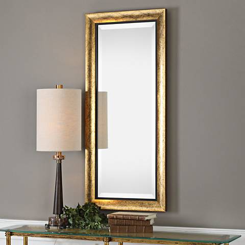 "Uttermost Leguar Metallic Gold 20"" x 46"" Wall Mirror"