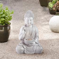"Buddha 19"" High Stone LED Indoor/Outdoor Fountain"