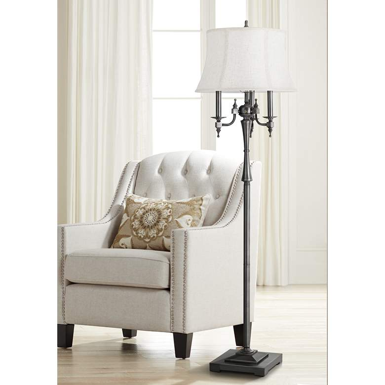 Madison Antiqued Silver 6-Way Floor Lamp