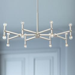 "Marya 37 3/4"" Wide Brushed Nickel 16-Light Chandelier"