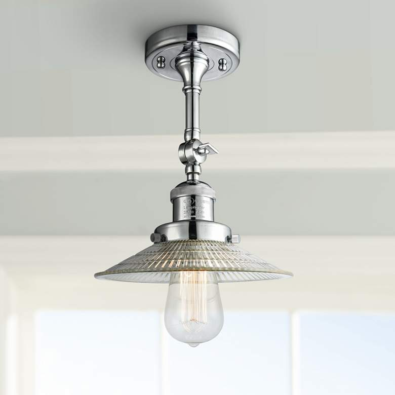 "Halophane 8 1/2""W Polished Chrome Adjustable Ceiling Light"