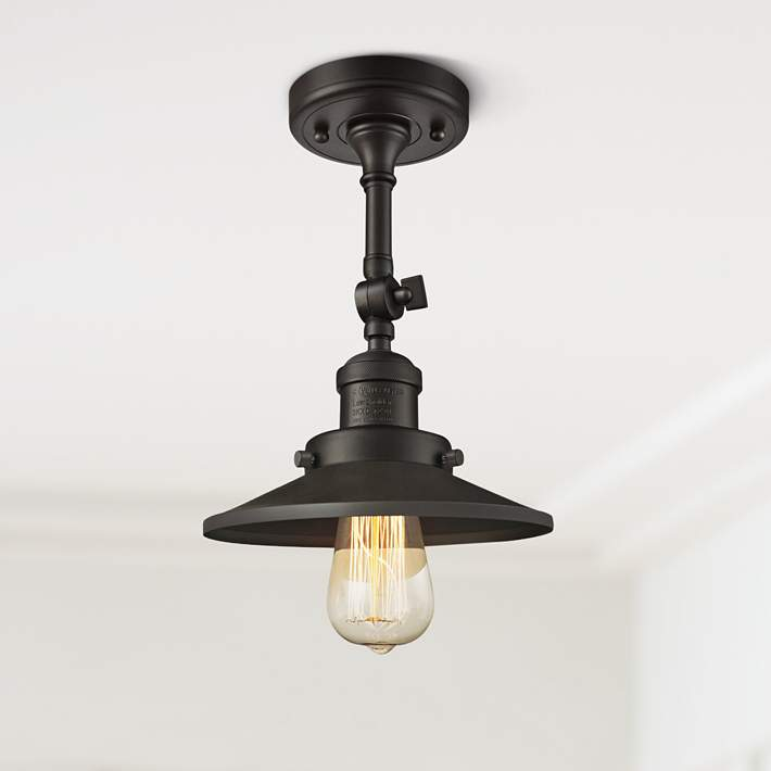 Railroad 8 Wide Oil Rubbed Bronze Adjustable Ceiling Light 40y26 Lamps Plus