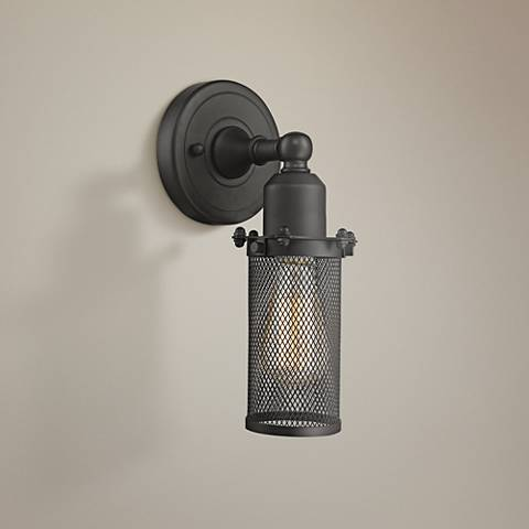 "Quincy Hall 10"" High Oil-Rubbed Bronze A Wall Sconce"