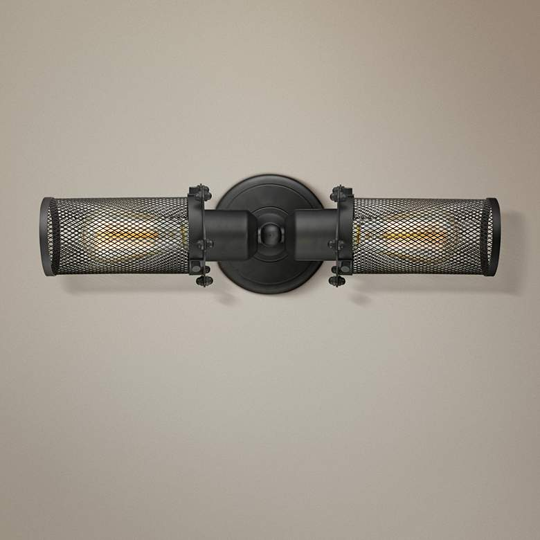 "Quincy Hall 4"" High Bronze 2-Light A Bowtie Wall Sconce"