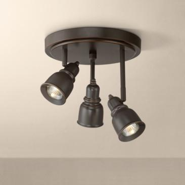 Pro Track Denise 3-Light Bronze LED Track Fixture
