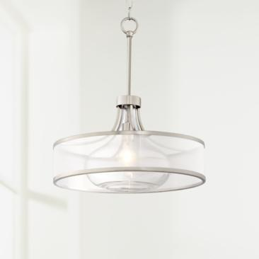 "Possini Euro Layne 19 1/4"" Wide Brushed Nickel Pendant Light"