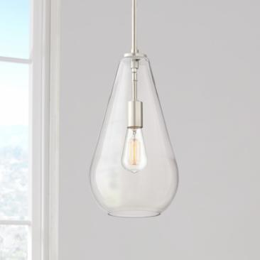 "Possini Euro Burgen 8 1/2"" Wide Brushed Nickel Mini Pendant"