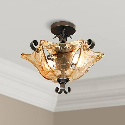 "Uttermost Vetraio Collection 17"" Wide Ceiling Light Fixture"