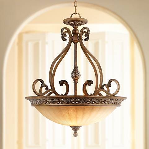 Kathy Ireland Sterling Estate 26 1 2 Wide Pendant Light