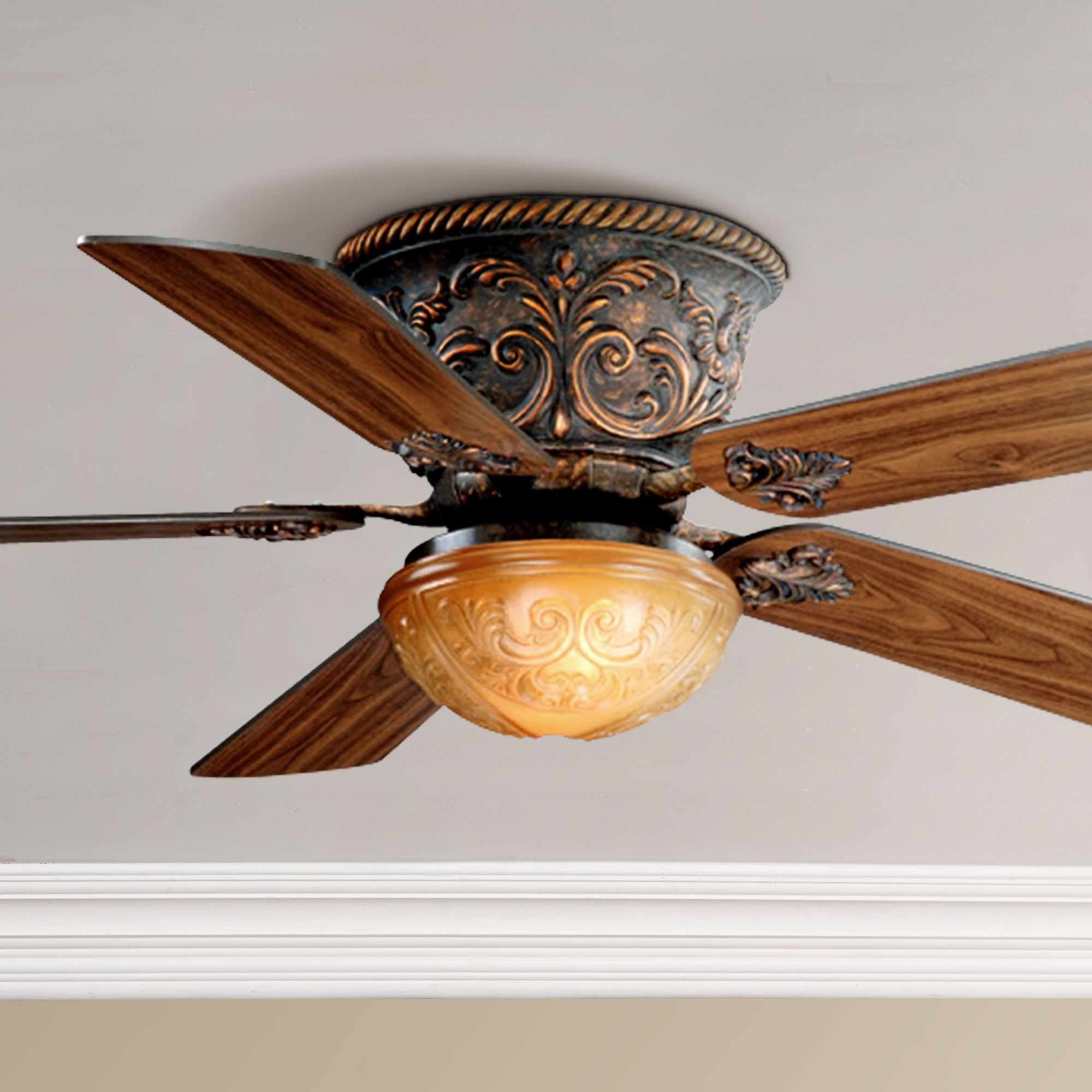 38 Esquire Rich Bronze Finish 3 Head Ceiling Fan Left Handsintl Co