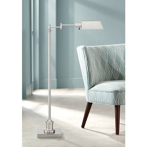 Jenson Brushed Nickel Pharmacy Floor Lamp