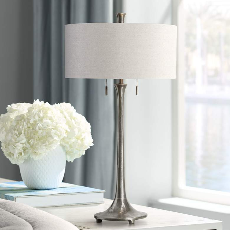 Uttermost Aliso Porous Texture Iron Table Lamp