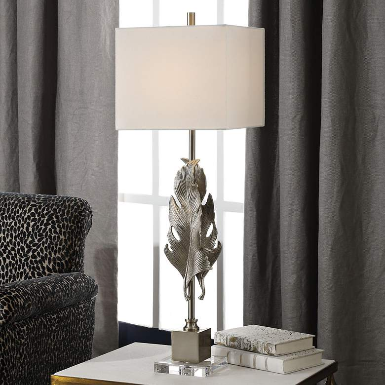Uttermost Luma Metallic Silver Champagne Buffet Table Lamp