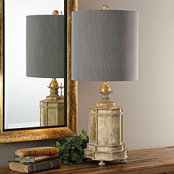 Falerone Distressed Golden Champagne Buffet Table Lamp