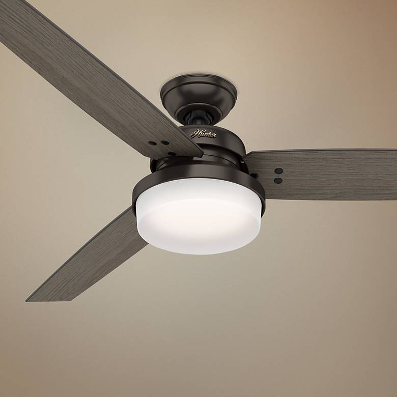 "60"" Hunter Sentinel Premier Bronze LED Ceiling Fan"